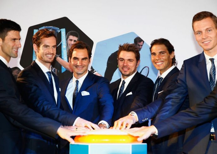 during the Barclays ATP World Tour Finals Draw at City Hall on November 12, 2015 in London, England.