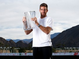 Sunday, March 18, 2018 - BNP Paribas Open Men's Singles Champion Juan Martin del Potro at the Indian Wells Tennis Garden in Indian Wells, California. (Jared Wickerham/BNP Paribas Open)