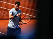 Grigor DIMITROV from Bulgaria during the Barcelona Open Banc Sabadell 66º Trofeo Conde de Godo at Reial Club Tenis Barcelona on 26 of April of 2018 in Barcelona.  (Photo by Xavier Bonilla/NurPhoto via Getty Images)