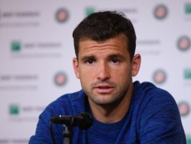 Grigor Dimitrov, Roland Garros 2018, Media Day, Photo : Corinne Dubreuil / FFT