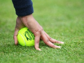 LONDON, ENGLAND - JUNE 06:  A general view of a tennis ball on day one of the AEGON Championships at Queens Club on June 6, 2011 in London, England.  (Photo by Julian Finney/Getty Images)