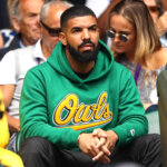 LONDON, ENGLAND - JULY 10:  Rapper Drake attends day eight of the Wimbledon Lawn Tennis Championships at All England Lawn Tennis and Croquet Club on July 10, 2018 in London, England.  (Photo by Michael Steele/Getty Images)