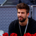 MADRID, SPAIN - MAY 08:  Gerard Pique of Barcelona watches play during day three of the Mutua Madrid Open tennis at La Caja Magica on May 8, 2017 in Madrid, Spain.  (Photo by Clive Rose/Getty Images)