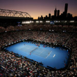 MELBOURNE, AUSTRALIA - JANUARY 20:  A general view inside Rod Laver Arena during the fourth round match between Roger Federer of Switzerland and Stefanos Tsitspas of Greece during day seven of the 2019 Australian Open at Melbourne Park on January 20, 2019 in Melbourne, Australia.  (Photo by Jack Thomas/Getty Images)