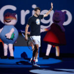 MELBOURNE, AUSTRALIA - JANUARY 12: Grigor Dimitrov of Bulgaria is seen during Kids Day at Melbourne Park on January 12, 2019 in Melbourne, Australia. (Photo by Daniel Pockett/Getty Images)