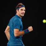 MELBOURNE, AUSTRALIA - JANUARY 20: Roger Federer of Switzerland reacts in his fourth round match against Stefanos Tsitsipas of Greece during day seven of the 2019 Australian Open at Melbourne Park on January 20, 2019 in Melbourne, Australia. (Photo by Darrian Traynor/Getty Images)