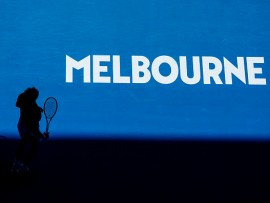 MELBOURNE, AUSTRALIA - JANUARY 21: Alexander Zverev of Germany reacts after smashing his racquet in his fourth round match against Milos Raonic of Canada during day eight of the 2019 Australian Open at Melbourne Park on January 21, 2019 in Melbourne, Australia.  (Photo by Fred Lee/Getty Images)