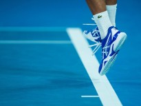 MELBOURNE, VIC - JANUARY 21: NOVAK DJOKOVIC (SRB) during day eight match of the 2019 Australian Open on January 21, 2019 at Melbourne Park Tennis Centre Melbourne, Australia (Photo by Chaz Niell/Icon Sportswire via Getty Images
