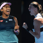 FILE PHOTO (EDITORS NOTE: COMPOSITE OF IMAGES - Image numbers 1087813666,1087765830 - GRADIENT ADDED) In this composite image a comparison has been made between tennis players Naomi Osaka of Japan (L) and Petra Kvitova of the Czech Republic. They will meet in the Australian Open Women's singles final on January 26, 2019 at Melbourne Park in Melbourne, Australia. ***LEFT IMAGE*** MELBOURNE, AUSTRALIA - JANUARY 24: Naomi Osaka of Japan celebrates in her Women's Semi Final match against Karolina Pliskova of Czech Republic during day 11 of the 2019 Australian Open at Melbourne Park on January 24, 2019 in Melbourne, Australia. (Photo by Quinn Rooney/Getty Images) ***RIGHT IMAGE*** MELBOURNE, AUSTRALIA - JANUARY 24: Petra Kvitova of the Czech Republic celebrates in her Women's Semi Final match against Danielle Collins of the United States during day 11 of the 2019 Australian Open at Melbourne Park on January 24, 2019 in Melbourne, Australia. (Photo by Mark Kolbe/Getty Images)