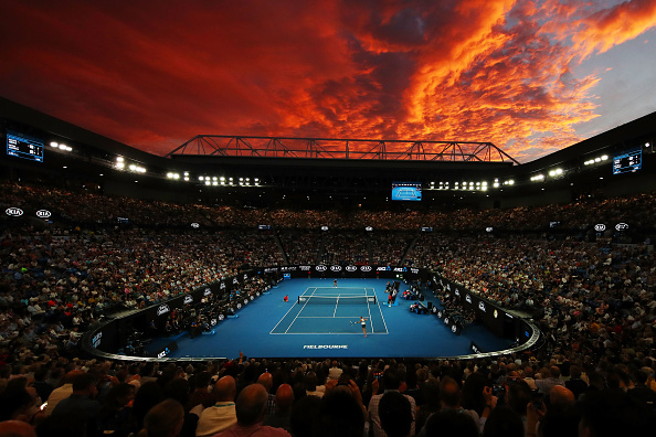 MELBOURNE, AUSTRALIA - JANUARY 26: A general view inside Rod Laver Arena during the Women's Singles Final match between Naomi Osaka of Japan and Petra Kvitova of Czech Republic during day 13 of the 2019 Australian Open at Melbourne Park on January 26, 2019 in Melbourne, Australia. (Photo by Julian Finney/Getty Images)