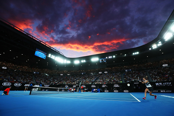 MELBOURNE, AUSTRALIA - JANUARY 26:  A general view inside Rod Laver Arena during the Women's Singles Final match between Naomi Osaka of Japan and Petra Kvitova of Czech Republic during day 13 of the 2019 Australian Open at Melbourne Park on January 26, 2019 in Melbourne, Australia.  (Photo by Michael Dodge/Getty Images)