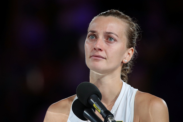MELBOURNE, AUSTRALIA - JANUARY 26:  Petra Kvitova of Czech Republic looks on following defeat in her Women's Singles Final match against Naomi Osaka of Japan during day 13 of the 2019 Australian Open at Melbourne Park on January 26, 2019 in Melbourne, Australia.  (Photo by Mark Kolbe/Getty Images)