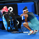 MELBOURNE, AUSTRALIA - JANUARY 26:  Naomi Osaka of Japan celebrates after winning championship point in her Women's Singles Final match against Petra Kvitova of Czech Republic during day 13 of the 2019 Australian Open at Melbourne Park on January 26, 2019 in Melbourne, Australia.  (Photo by Quinn Rooney/Getty Images)