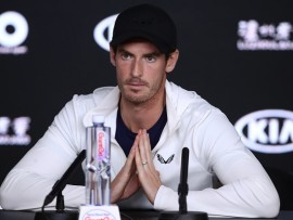 MELBOURNE, AUSTRALIA - JANUARY 14:    Andy Murray of Great Britain answers questions in a press conference following his first round defeat during day one of the 2019 Australian Open at Melbourne Park on January 14, 2019 in Melbourne, Australia. (Photo by Julian Finney/Getty Images)