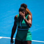 MELBOURNE, AUSTRALIA - JANUARY 23: Serena Williams of the United States shows her frustration against Karolina Pliskova of the Czech Republic during day 10 of the 2019 Australian Open at Melbourne Park on January 23, 2019 in Melbourne, Australia. (Photo by TPN/Getty Images)