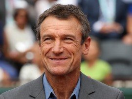 PARIS, FRANCE - JUNE 6: Mats Wilander receives on court a trophy for his 3 titles at the French Open during Day 11 of the 2018 French Open at Roland Garros stadium on June 6, 2018 in Paris, France. (Photo by Jean Catuffe/Getty Images)