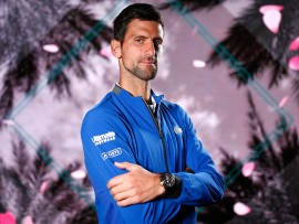 Thursday, March 7, 2019 - Novak Djokovic poses for a portrait during the BNP Paribas Open in Indian Wells, California. (Jared Wickerham/BNP Paribas Open)