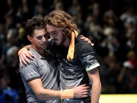 Dominic Thiem, Stefanos Tsitsipas, London 2019