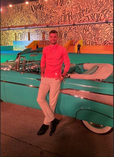 Григор Димитров се срещна с Бекъм на модно шоу в Маями (галерия)