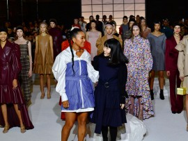 NEW YORK, NEW YORK - FEBRUARY 10: Designer Hanako Maeda and models take a bow following the runway for Adeam fashion show during February 2020 - New York Fashion Week: The Shows at The Highline Hotel on February 10, 2020 in New York City. (Photo by Slaven Vlasic/Getty Images for NYFW: The Shows)