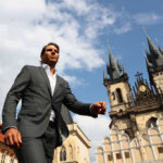 PRAGUE, CZECH REPUBLIC - SEPTEMBER 20:  Rafael Nadal of Spain looks on ahead of the Laver Cup on September 20, 2017 in Prague, Czech Republic. The Laver Cup consists of six European players competing against their counterparts from the rest of the World. Europe will be captained by Bjorn Borg and John McEnroe will captain the Rest of the World team. The event runs from 22-24 September.  (Photo by Clive Brunskill/Getty Images for Laver Cup)