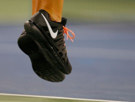 NEW YORK, NY - AUGUST 27:  Victoria Azarenka of Belarus debuting a new Nike shoe during her women's singles first round match against Dinah Pfizenmaier of Germany  on Day Two of the 2013 US Open at the USTA Billie Jean King National Tennis Center on August 27, 2013 in New York City.  (Photo by Mike Stobe/Getty Images for the USTA)