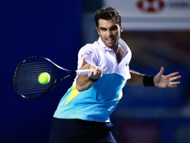 ACAPULCO, MEXICO - FEBRUARY 25: Pablo Andujar of Spain returns a ball during his singles match against Rafael Nadal of Spain as part of the ATP Mexican Open 2020 Day 2 at Princess Mundo Imperial on February 25, 2020 in Acapulco, Mexico. (Photo by Hector Vivas/Getty Images)