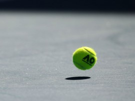 MELBOURNE, AUSTRALIA - JANUARY 15: A general view of an official Australian Open tennis ball on day one of the 2018 Australian Open at Melbourne Park on January 15, 2018 in Melbourne, Australia.  (Photo by Mark Kolbe/Getty Images)
