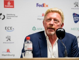 HAMBURG, GERMANY - SEPTEMBER 22: Boris Becker, Head of Men's Tennis Germany is giving a press conference during Round One of the Hamburg European Open 2020at Rothenbaum on September 22, 2020 in Hamburg, Germany. (Photo by Alexander Scheuber/Getty Images for matchmaker)