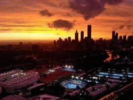 MELBOURNE, AUSTRALIA - JANUARY 18: A general view of Melbourne Park during day five of the 2019 Australian Open at Melbourne Park on January 18, 2019 in Melbourne, Australia. (Photo by Cameron Spencer/Getty Images)