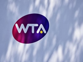 ROME, ITALY - MAY 13:  The WTA logo outside the Grandstand court on Day Four of The Internazionali BNL d'Italia 2015 at the Foro Italico on May 13, 2015 in Rome, Italy.  (Photo by Mike Hewitt/Getty Images)